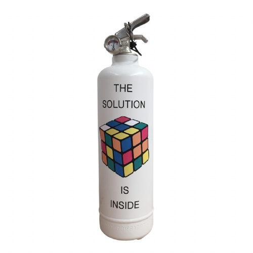 Extincteur Rubik's Solution Inside - Fire Design